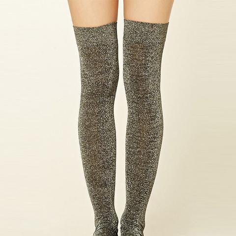 Over-The-Knee Metallic Socks