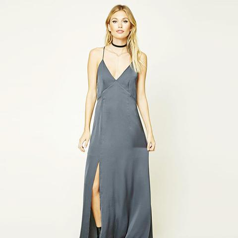 Contemporary Satin Maxi Dress