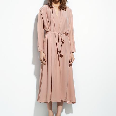 Blushed Silk Kimono Dress