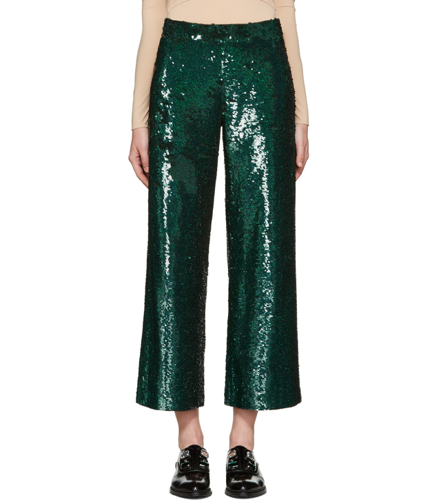 Ashish Green Sequin Trousers