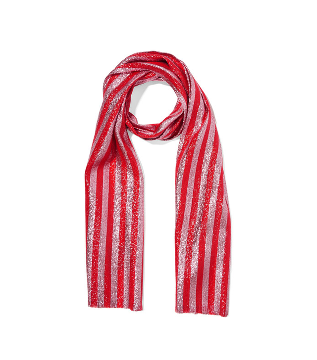 Gucci Striped Silk-Blend Lamé Scarf