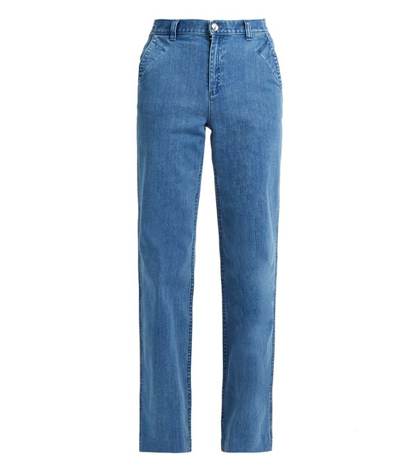 How to wear high-waisted jeans: A.P.C. America High-Waisted Wide-Leg Jeans