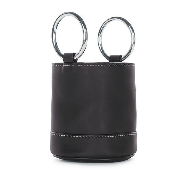 Simon Miller Black Calf Leather Bucket Bag