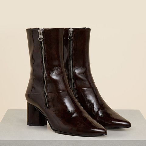 Stephanie Leather Mid-Height Boot