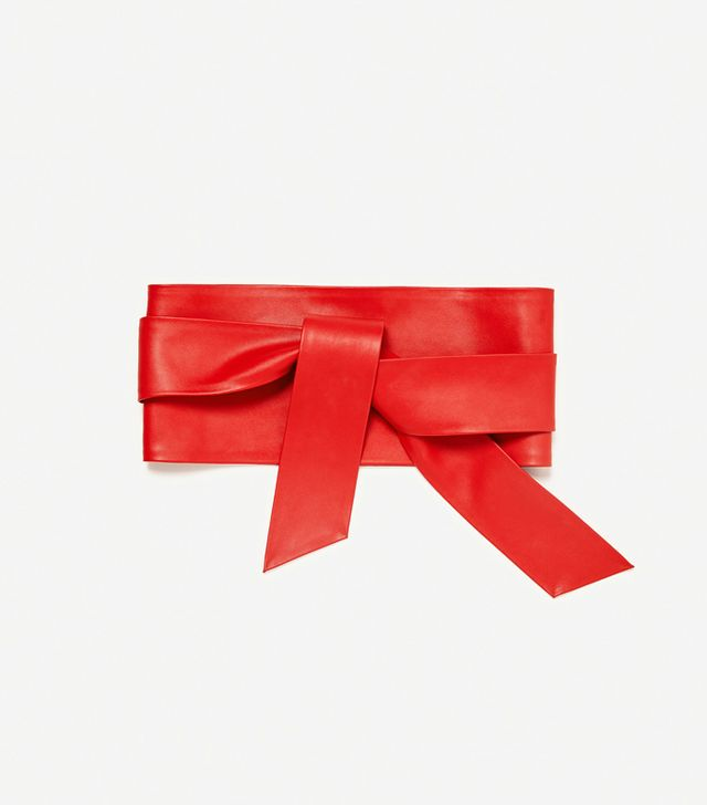 Microtrends spring 2017: Zara Wide Belt With Bow