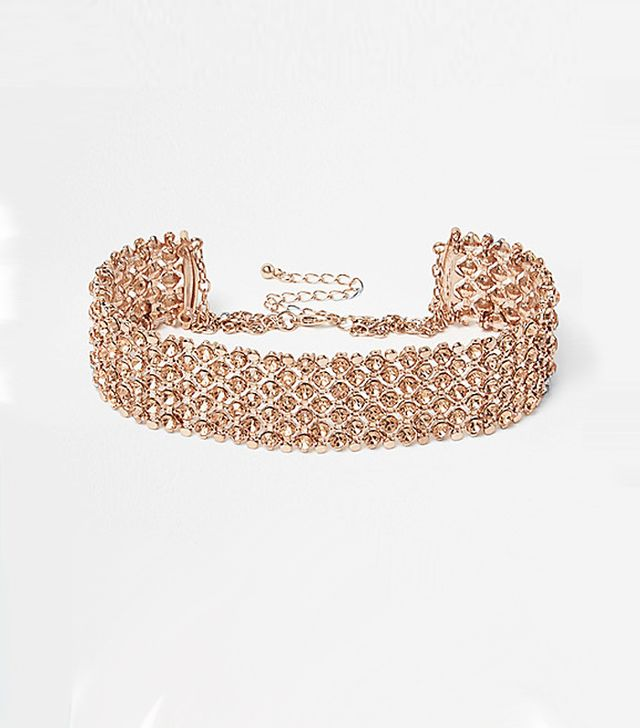 Microtrends spring 2017: River Island Rose Gold Diamante Choker