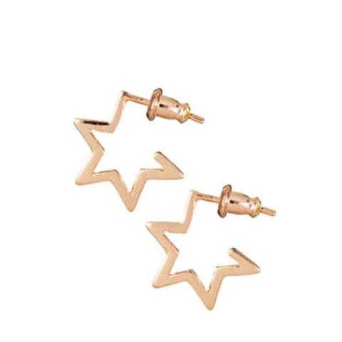 Star Hoops Rose Gold
