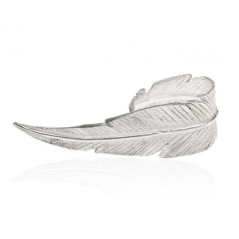 Breeze Large Feather Ring in Silver