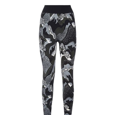 Japanese Landscape Seamless Leggings