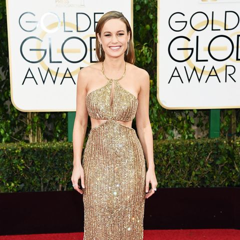 best red carpet dresses 2016: Brie Larson Golden Globes