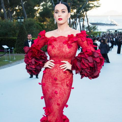 best red carpet dresses 2016: katy perry marchesa