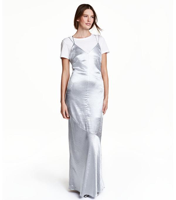 H&M Satin Maxi Dress