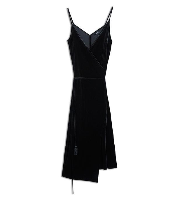 Who What Wear Women's Velvet Wrap Slip Dress