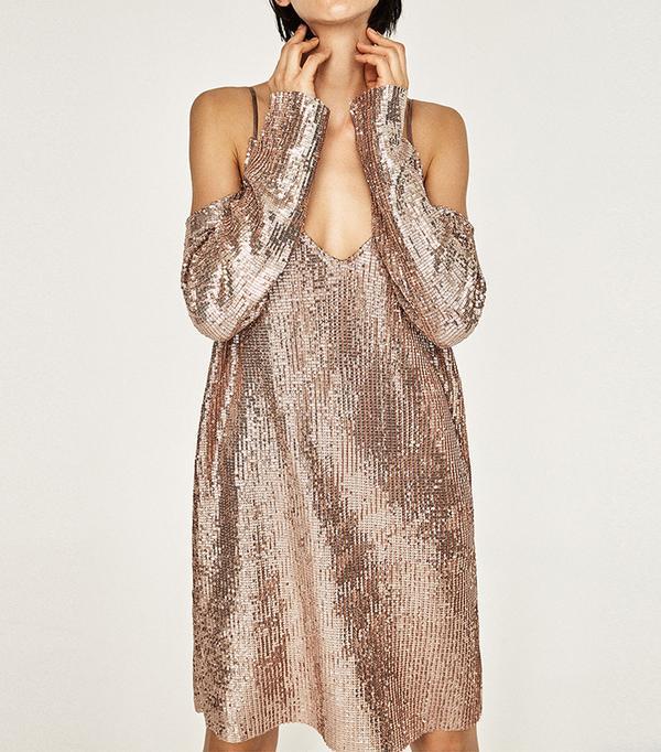 Zara Cut-out Shoulder Dress