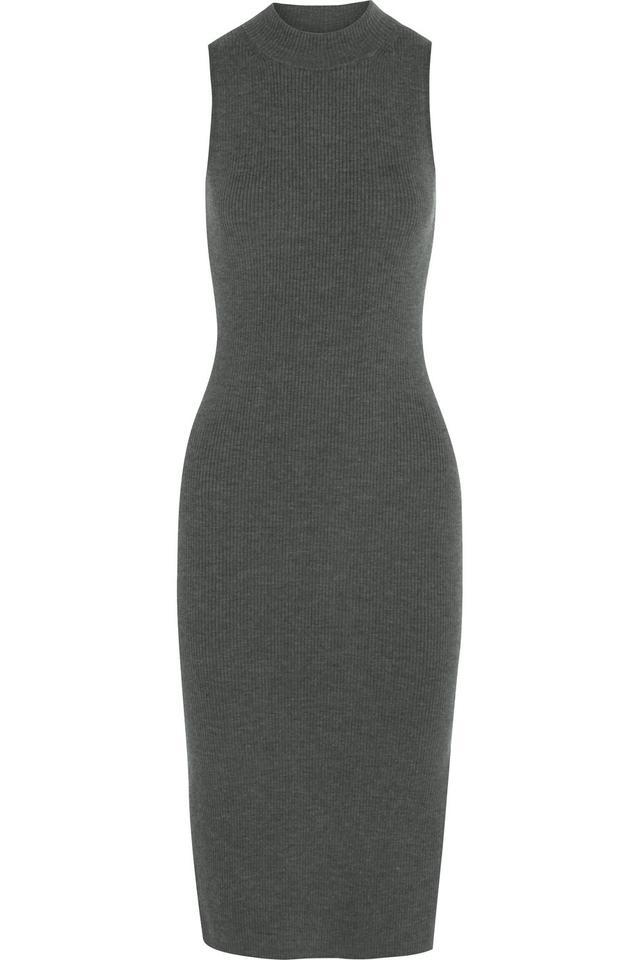 Rag & Bone Alanna Ribbed Stretch Wool-Blend Midi Dress