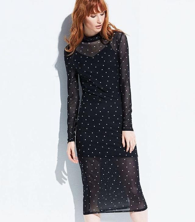 kohl's-K/lab Sheer Long Sleeve Midi Dress