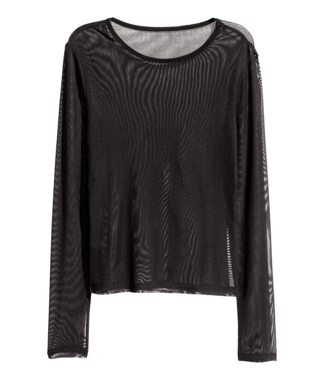 H&M Long-Sleeved Mesh Top