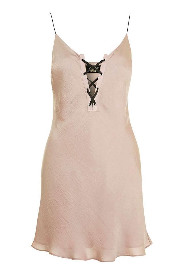 Topshop Eyelet Slip Dress