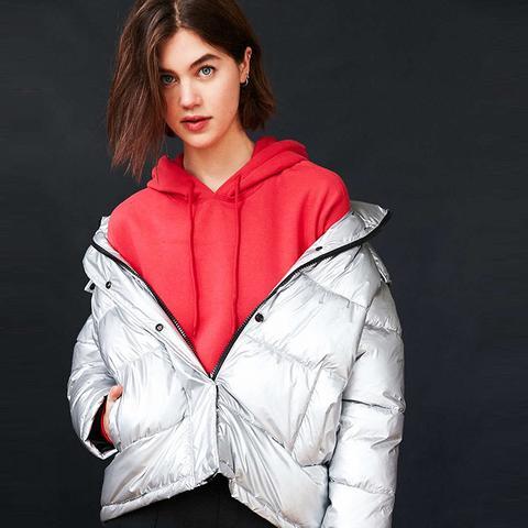 Ramola Metallic Puffer Jacket