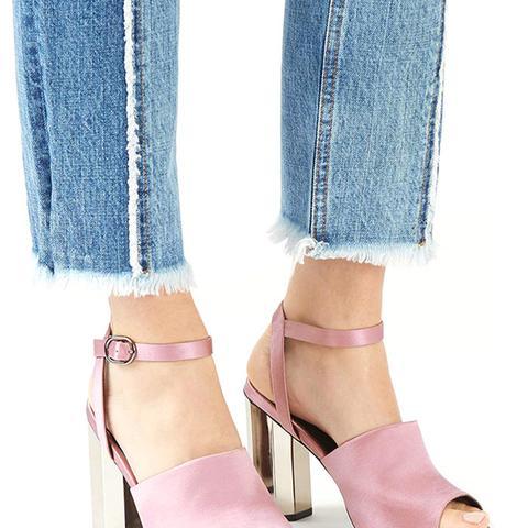 Regina Satin Heeled Sandals