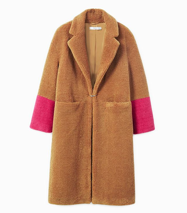 Patent Coated Wool Oversized Trench