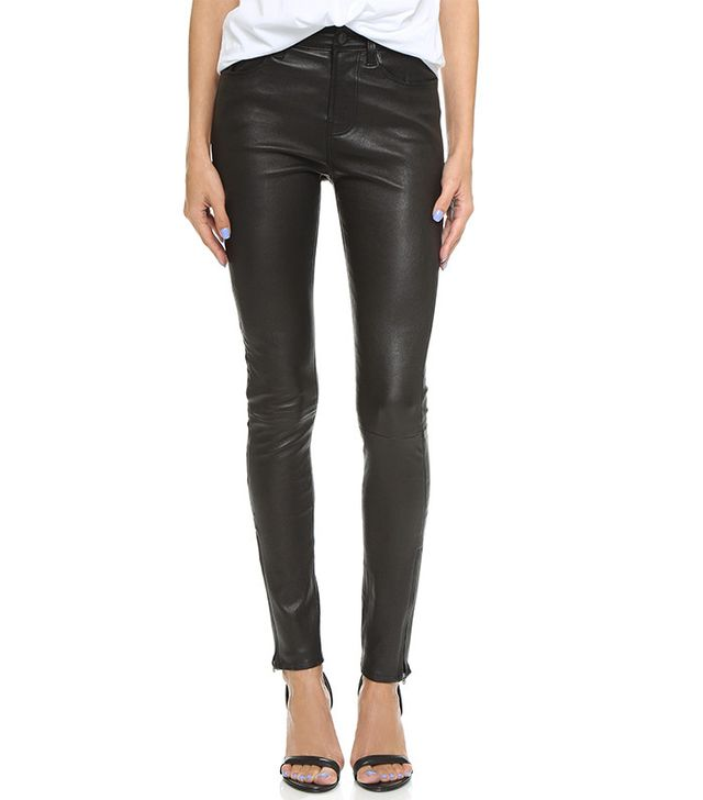 J Brand High Rise Leather Pants