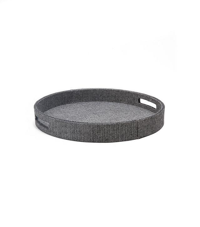 Zara Home Gray Round Tray