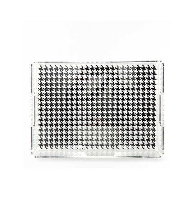 Zara Home Transparent Hound's-Tooth Acrylic Tray
