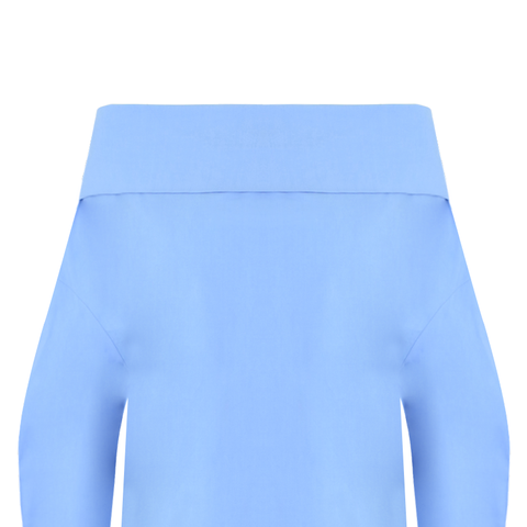 Off The Shoulder Top Sky Blue