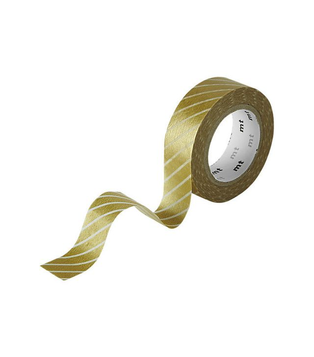 CB2 Wide Stripe Gold Washi Tape