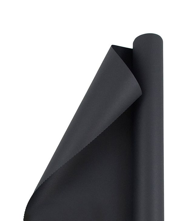 JAM Solid Matte Color Wrapping Paper Roll in Matte Black Recycled
