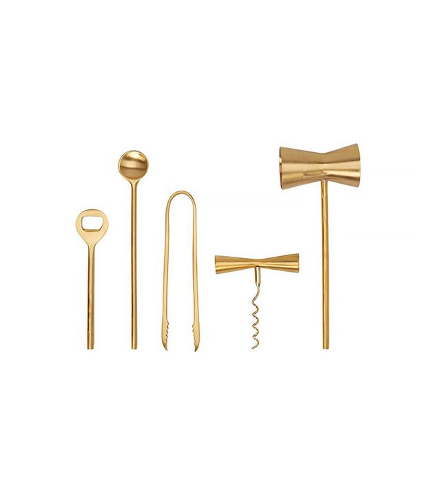 Consort Cocktail Brass Bar Set
