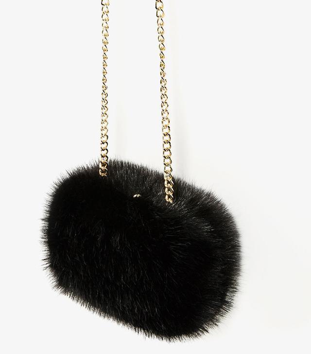 Faux fur bag Zara