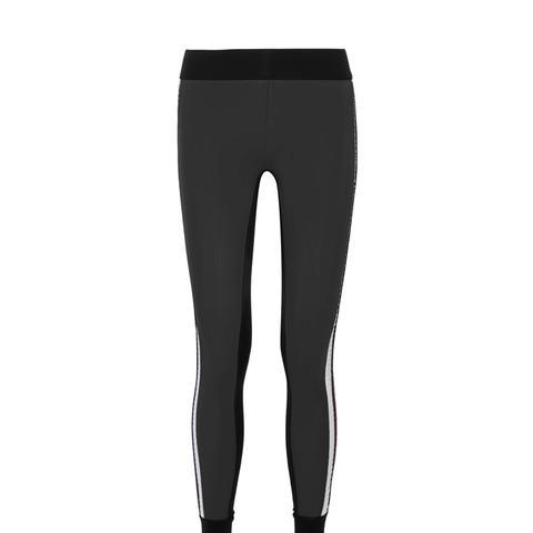 Kuna Velvet-Trimmed Color-Block Stretch Leggings