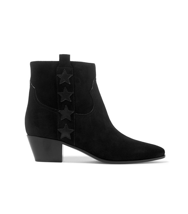 Saint Laurent Star-Appliquéd Ankle Boot