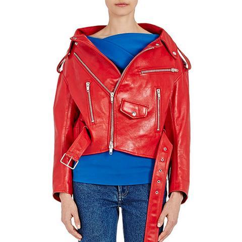 Leather Swing Moto Jacket