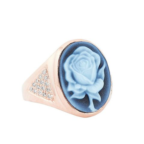 Cameo Rose Pave Diamond Ring
