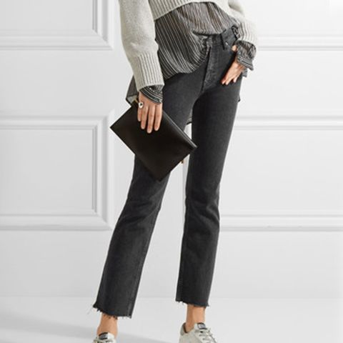Daily Cropped High-Rise Straight-Leg Jeans