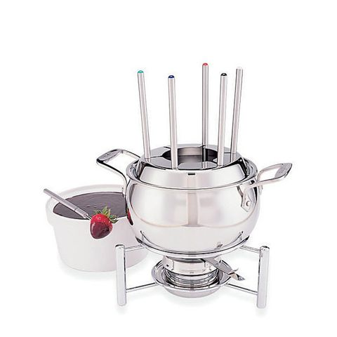 Stainless Steel Fondue Set with Ceramic Insert