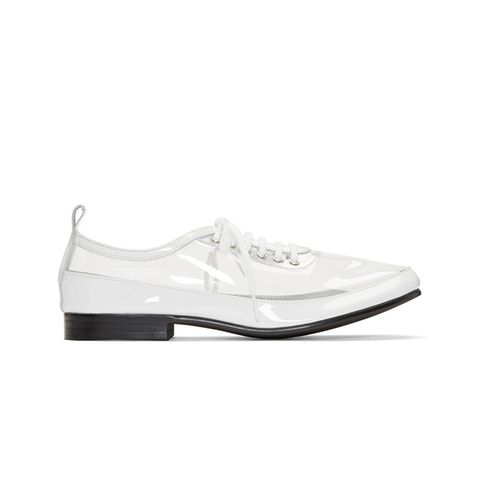 Clear & White PVC Derbys