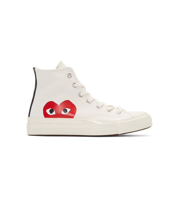Comme des Garçons PLAY Off-White Converse Edition High-Top Sneakers