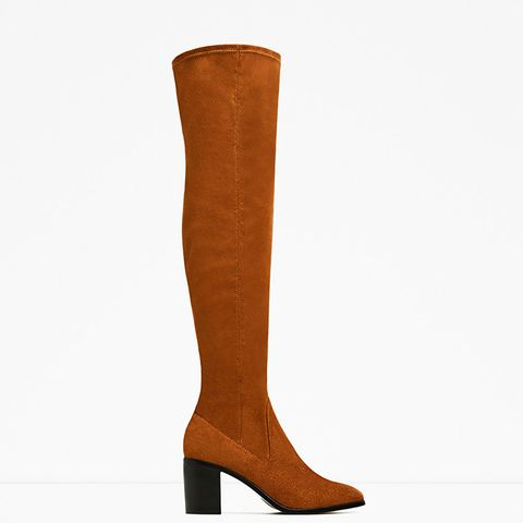 Stretch High Heel Over-the-Knee Boots