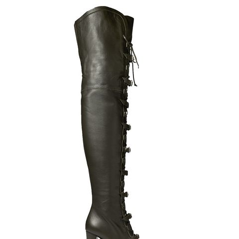 Maloy Leather Over-the-Knee Boots