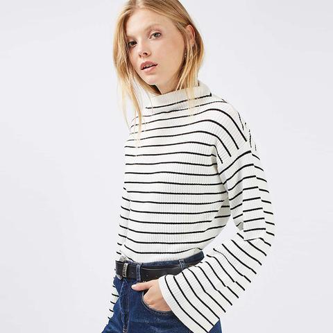 Wide Sleeve Stripe Jumper
