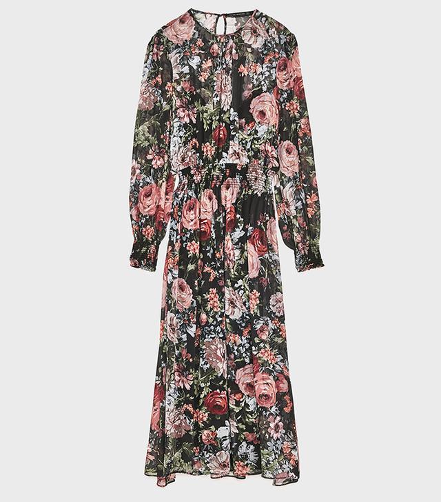 Zara Long Tulle Dress With Polka Dots