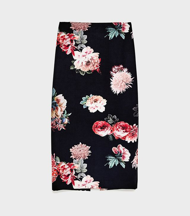 Zara Tube Skirt With Side Snaps