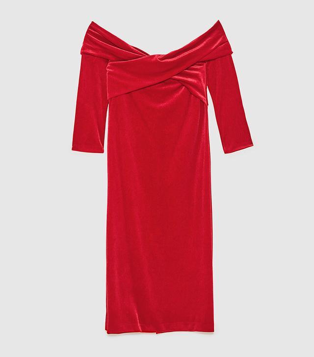 Zara Patches Tube Dress