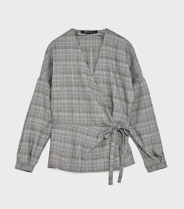 Zara Printed Kimono Blouse