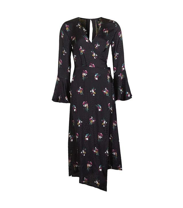 Topshop Boutique Bouquet Wrap Dress