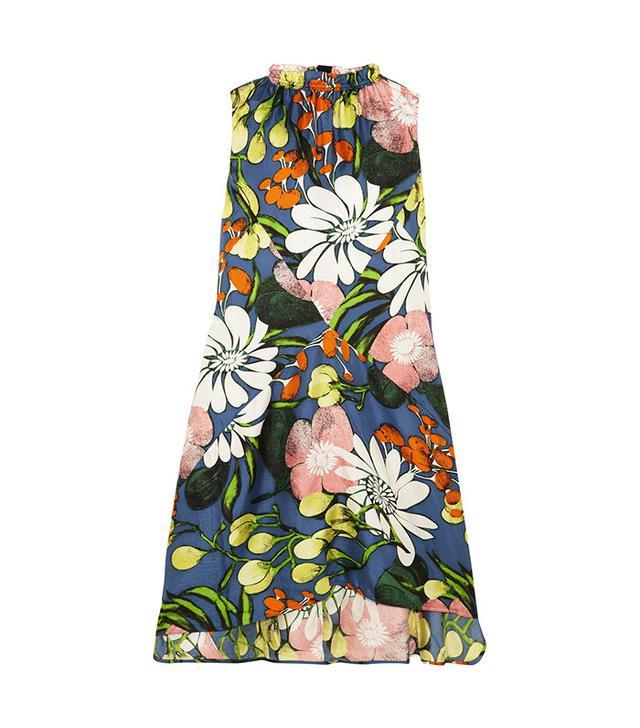 Marni Floral-Print Silk Dress